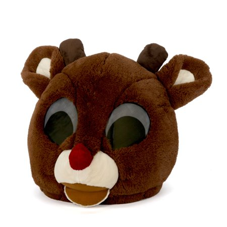 Maskimals Oversized Plush Xmas Mask - Rudolph the Red-Nosed - Red Nose Reindeer Plush