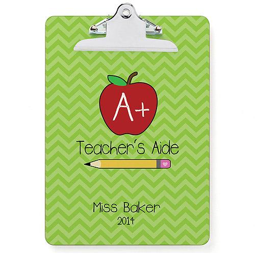 Personalized Teacher's Aide Clipboard