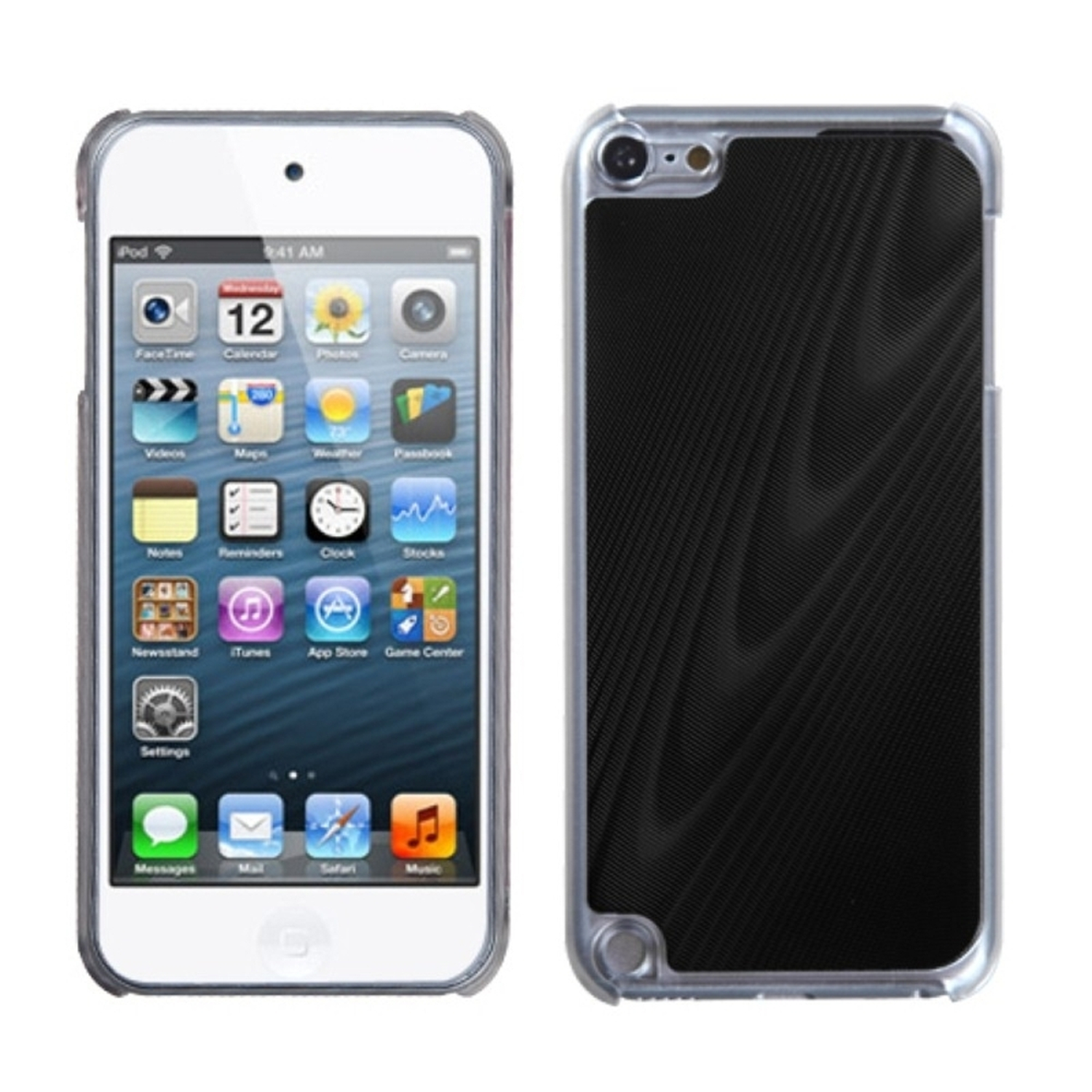 Insten Black Cosmo Back Case for APPLE: iPod touch (5th 6th Gen 5 6)
