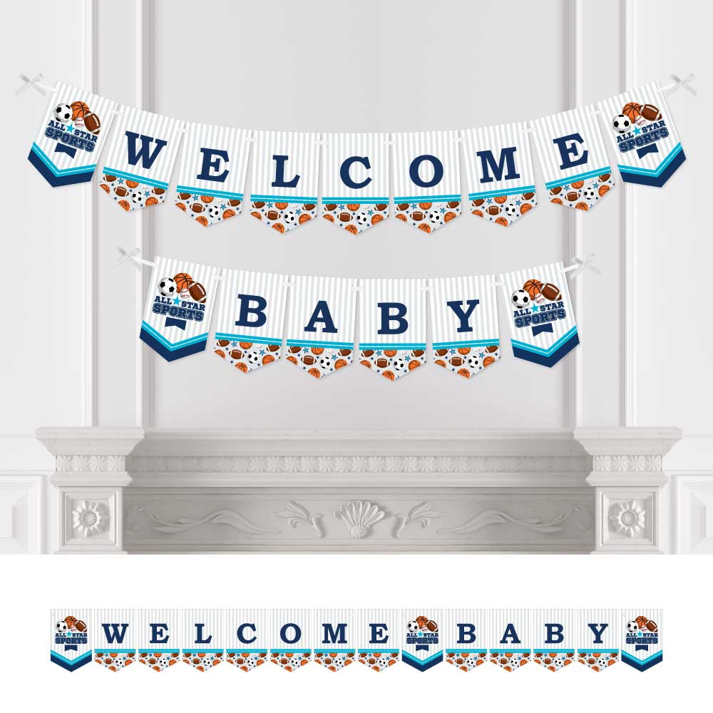 Go, Fight, Win - Sports - Baby Shower Bunting Banner - Party Decorations - Welcome Baby
