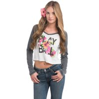 Miami Hurricanes Let Loose by RNL Women's Elysian Cropped Long Sleeve Top - White