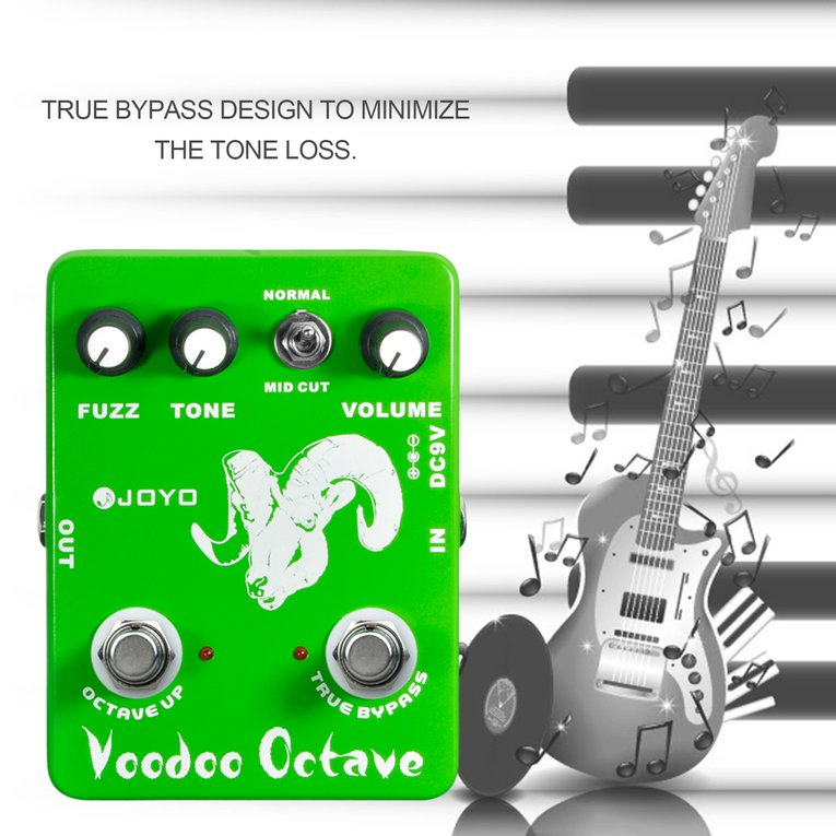 JF-12 Voodoo Octave Fuzz Effect Guitar Pedal Electric Bass Dynamic Compression