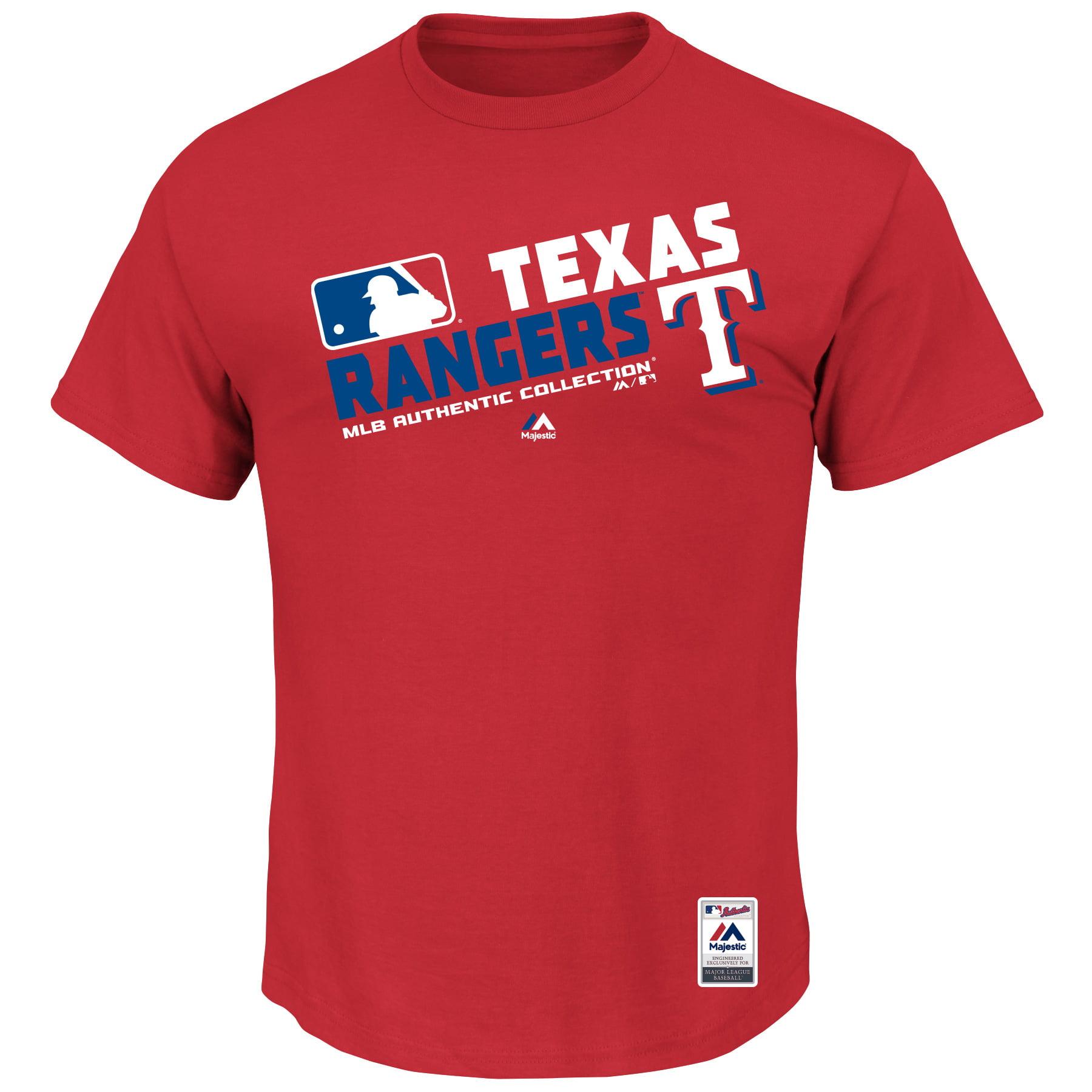 Texas Rangers Majestic Team Choice T-Shirt - Red