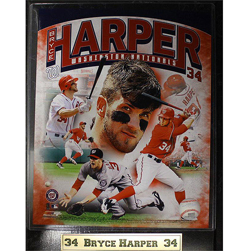 MLB Bryce Harper Photo Plaque, 9x12