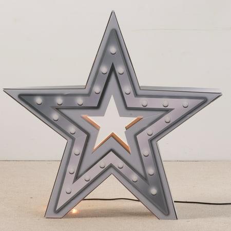 3 ft. 11 in. Pop Star Princess Lighted 3D Star