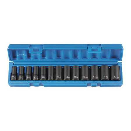 "3/8"" Drive Impact Set, 13pcs GREY PNEUMATIC 1213MSD"