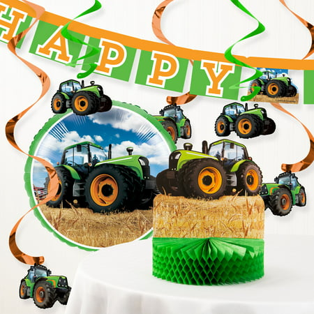 Tractor Time Birthday Party Decorations Kit