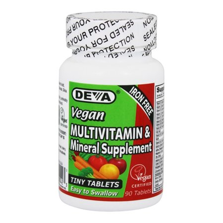 Deva Nutrition Vegan Iron Free Multivitamin And Mineral Supplement Tablets, 90 - Deva Nutrition Vegan Multivitamin
