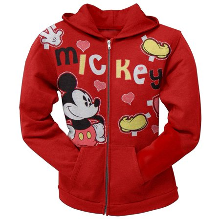 Mickey Mouse - Hearts Girls Juvy Zip Hoodie - Mickey Mouse Hoodie