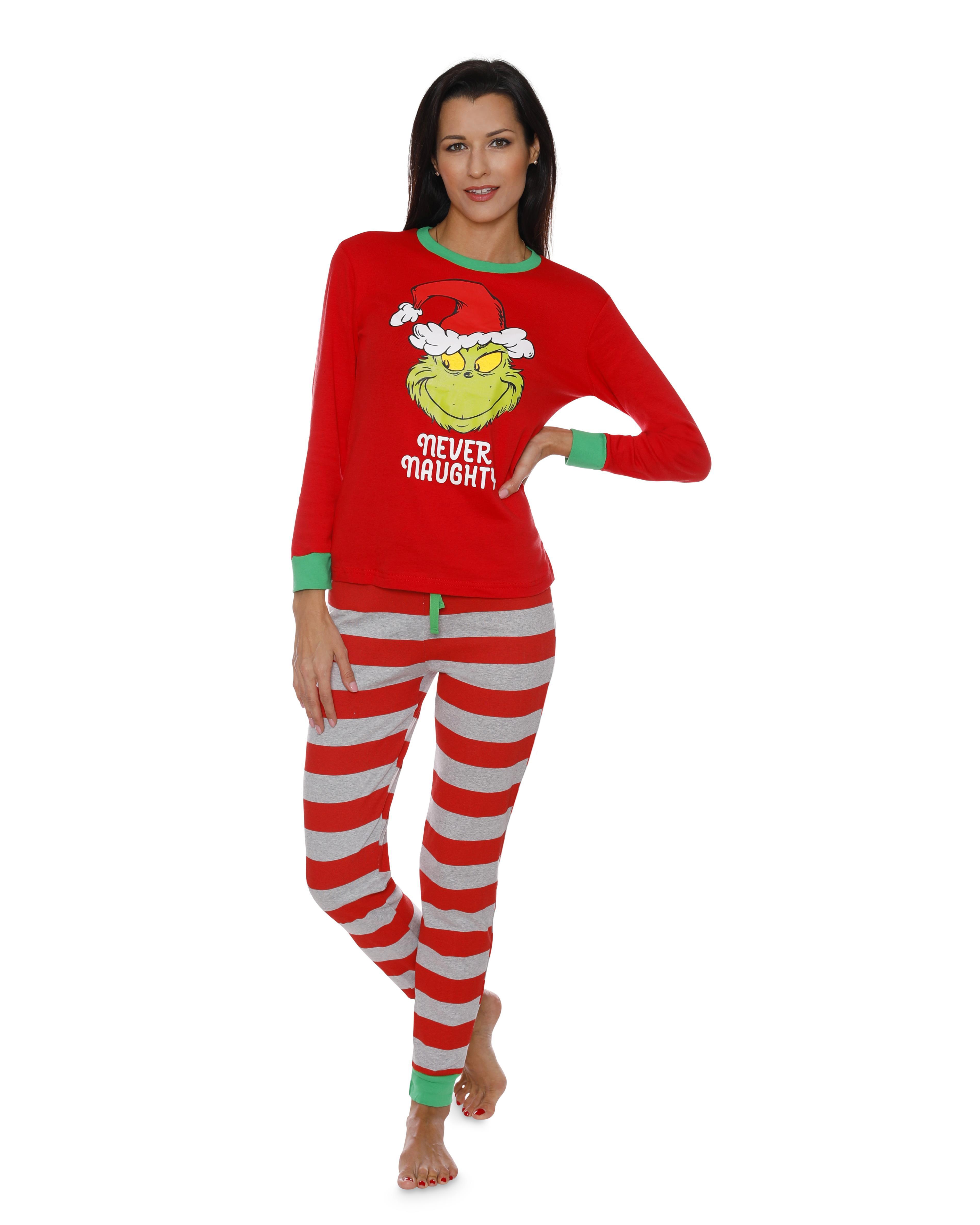 fc956e79cd1b Dr. Seuss Holiday Grinch Pajamas Cotton - Family Christmas Pajamas ...