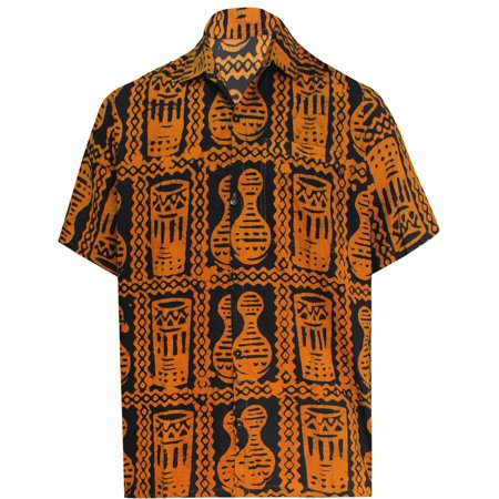 d8b72143 LA LEELA - Hawaiian Shirt Mens Beach Aloha Camp Party Holiday Short Sleeve  Button Up Down Hand Batik Cotton F - Walmart.com