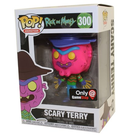 Funko POP! Animation Vinyl Figure - Rick and Morty S3 - SCARY TERRY (Neon) *Exclusive*](Scary Moving Animations)