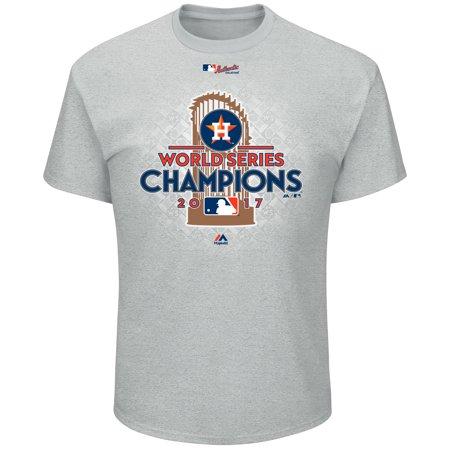 (Houston Astros Majestic 2017 World Series Champions Locker Room T-Shirt - Heather Gray)