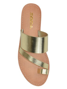 e6e6a690bed1ed Product Image Joan Light Gold Soda Flip Flops Shoes Women Basic Sandals  Flat Summer Thongs Toe Ring 5.5