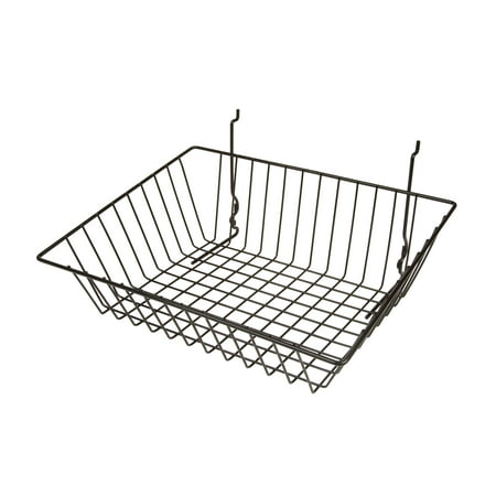- Econoco Black Sloping Basket for Slatwall, Pegboard or Gridwall - Set of 6