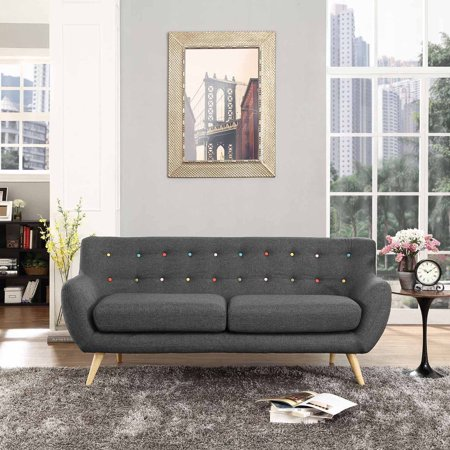 Modway Remark Modern Upholstered Sofa, Multiple Colors Polyester Upholstered Sofa