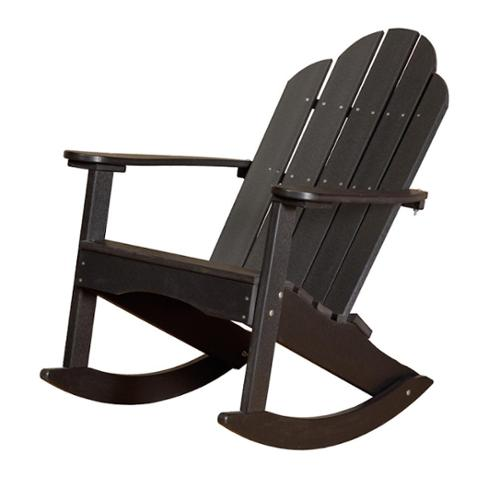 Somette Terra Poly Lumber Outdoor Adirondack Rocker Weathered Wood