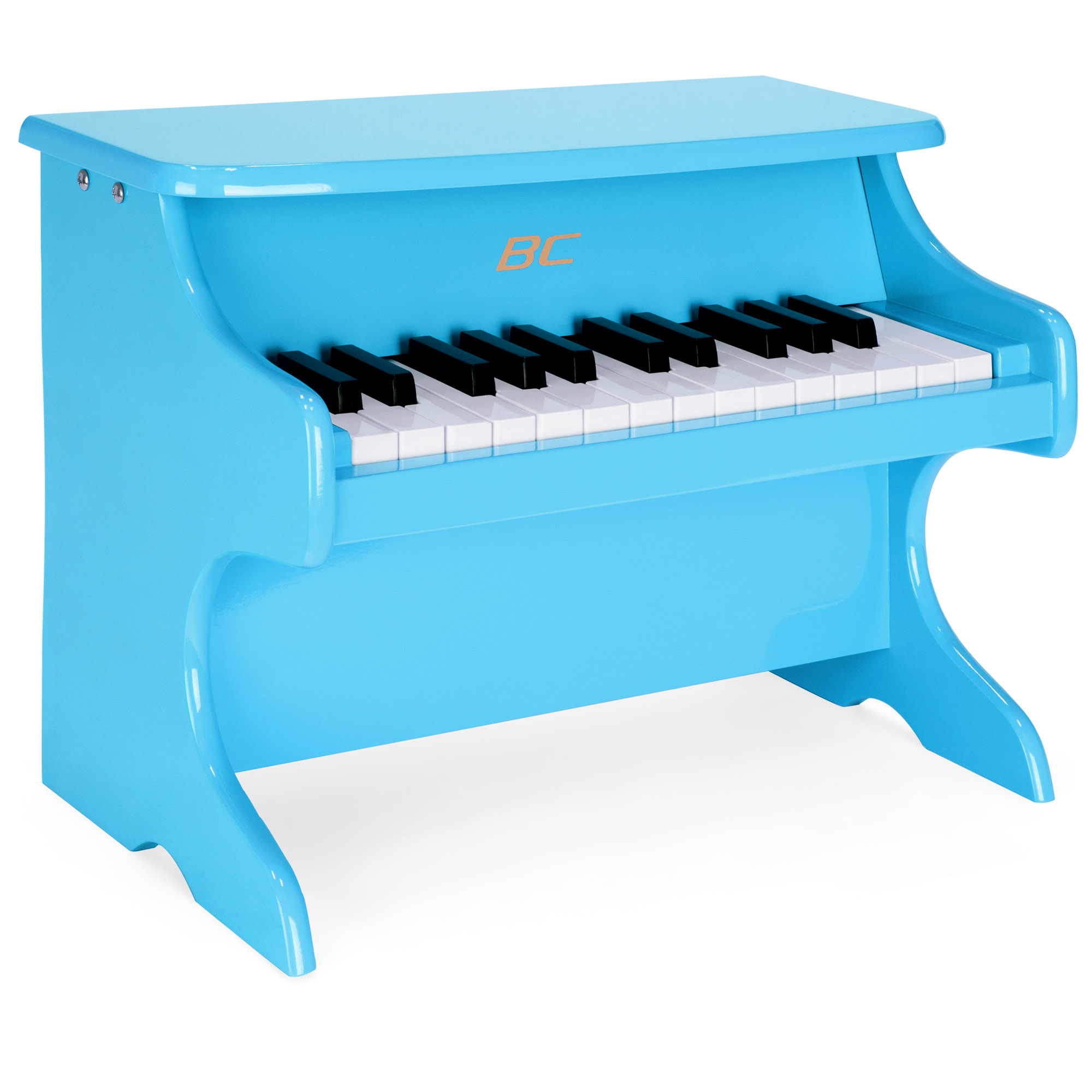 Best Choice Products Kids Toddler Educational Learn-To-Play Mini Piano Musical Instrument Keyboard Toy w/ Key Note Stickers, Music Book, 25 Full Size Keys - Blue