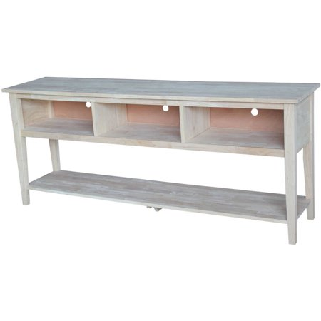 International Concepts Unfinished Entertainment Tv Stand