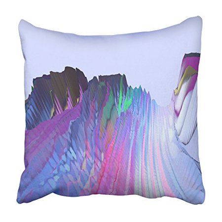 Glitch Music - USART Glitch Manipulations Abstract Colorful Shapes and Visualization Music Pillowcase Cushion Cover 16x16 inch