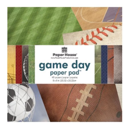 Paper Pad, Cardstock, Game Day, 8X8