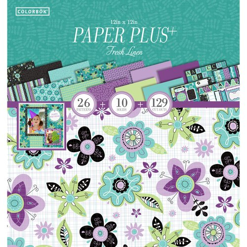 "Colorbok 12"" Paper Plus Pad, Fresh Linen"