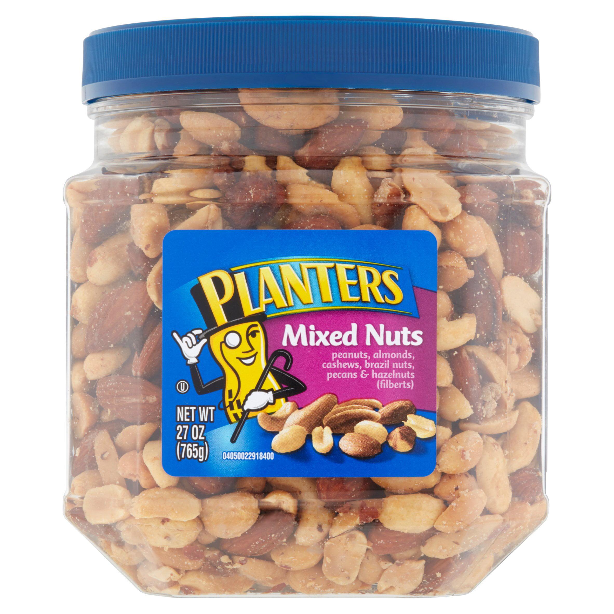 Planters Mixed Nuts: Peanut, Almond, Cashew, Brazil Nut, Pecan, Hazelnut, 27 OZ (765g) by Kraft Foods Group, Inc.