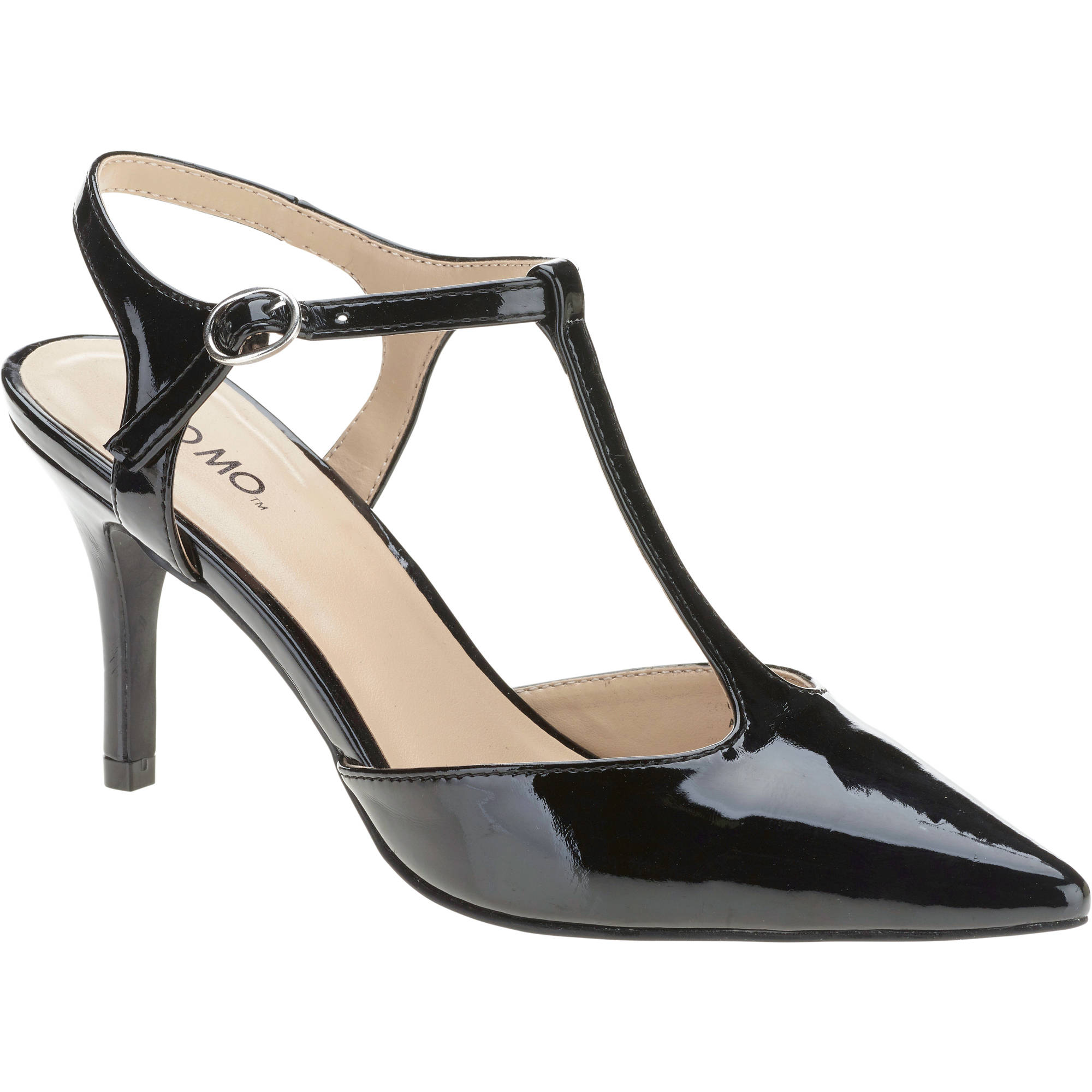 Mo Mo Women's Connie Patent T-strap Pump