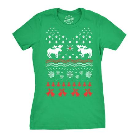 Women's Reindeer Bells T Shirt womens ugly Christmas sweater shirt](Christmas Sweaters With Reindeer)