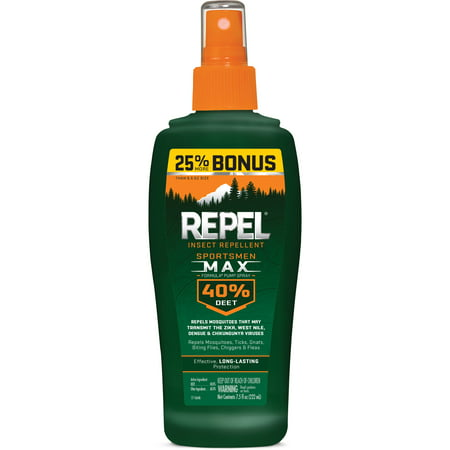 Buzz Away Insect Repellant - Repel Insect Repellent Sportsmen Max Formula Spray Pump 40% DEET, 7.5-fl oz