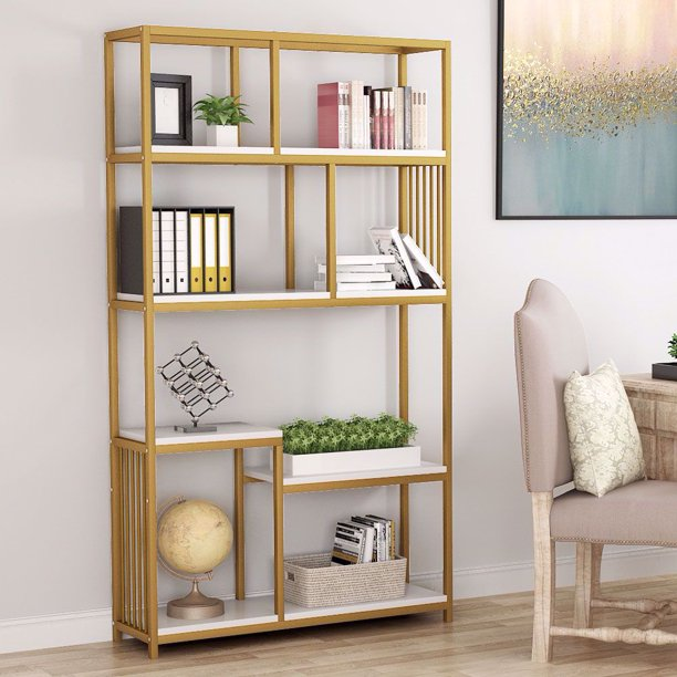 Tribesigns 7-Open Shelf Bookcases, Etagere Bookcase with ...