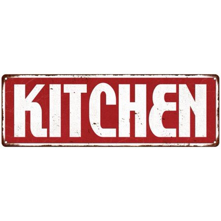 Kitchen Restaurant Diner Food Menu Vintage Look Metal Sign 6x18 Old Advertising Man Cave Game Room M6180988 - Halloween Restaurant Menu London