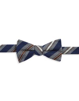 Textured Stripe Bow Tie