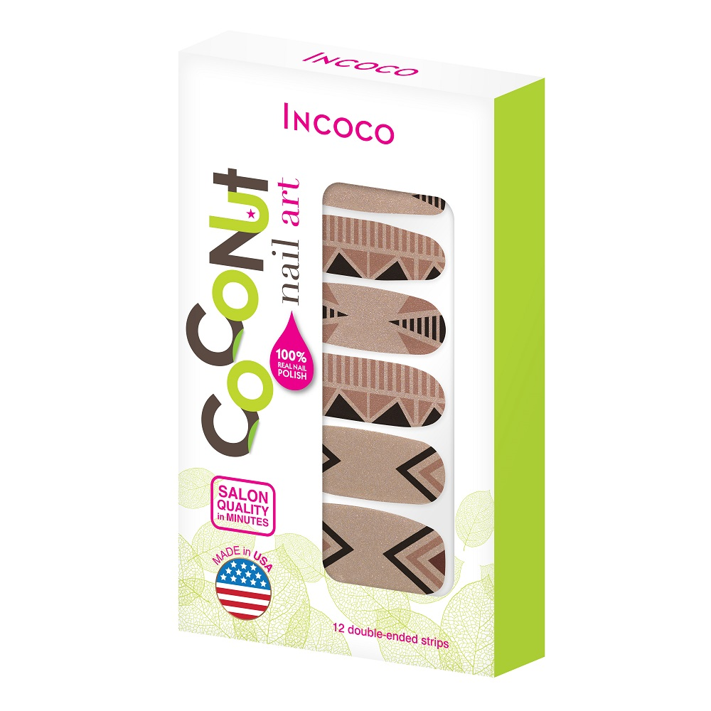 Coconut Nail Art by Incoco Nail Polish Strips, Missing Piece