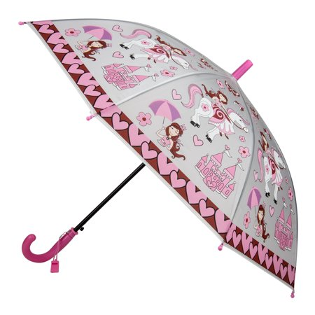 Rainy Day Novelty Kids Easy Open Automatic Umbrella with Safety Whistle