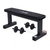 Fuel Pureformance Flat Bench with 40 lb Adjustable Weight Set