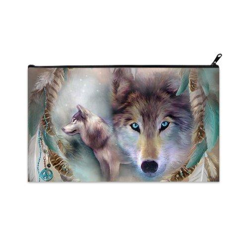 POPCreation wolf School Pencil Case Pencil Bag Zipper Organizer Bag