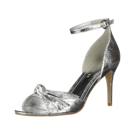 Marc Fisher Womens Brodie Fabric Peep Toe Ankle Strap Classic Pumps Peep Toe T-strap Pumps