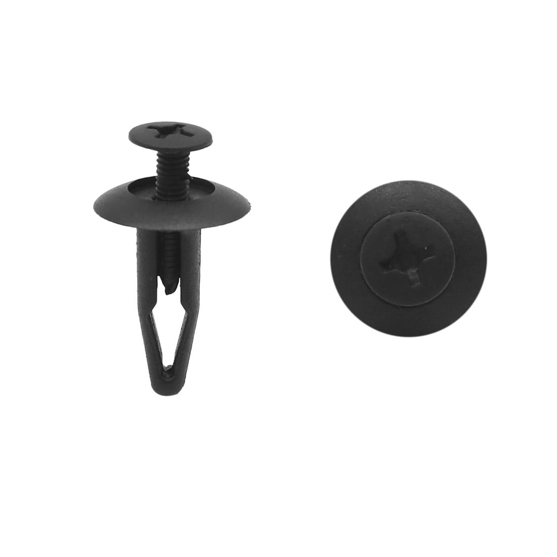 Hlyjoon 100pcs clips de rivet en nylon noir rivets attache de porte//garde-boue//pare-chocs de voiture vis de trou de 7,5 mm poussez le clip de retenue universelle
