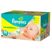 Pampers Swaddlers Newborn Diapers Size 0 88 count