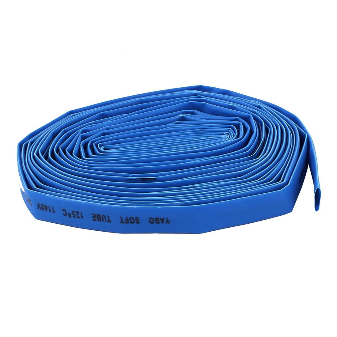 8mm Dia 8M Long Polyolefin Insulating Heat Shrinkable Tube Blue Ratio 2:1