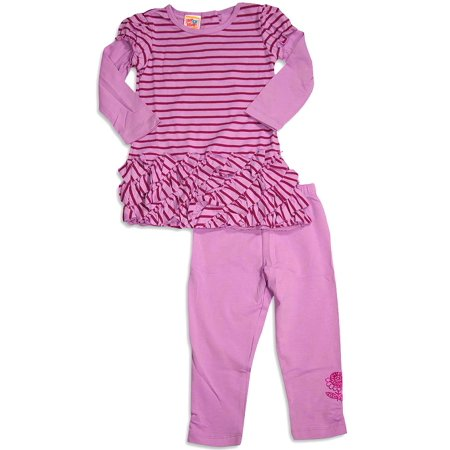 Boutique For Girls (Little Girls Long Sleeve Legging Set size 2 thru 6X - 8 Fun Patterns, Boutique Brand - 30 Day Guarantee - FREE)