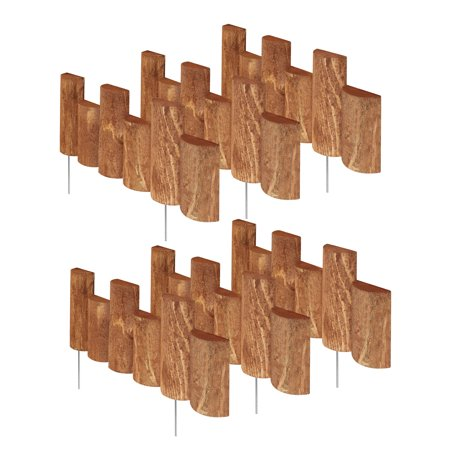 "Greenes Fence 18"" Wooden Half-Log Edging (6 Pack)"