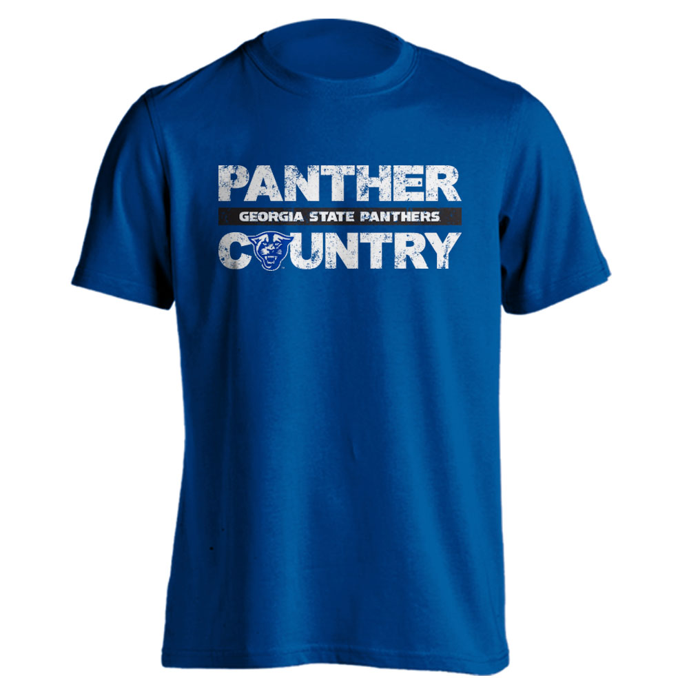 Georgia State University Panthers GSU Distressed Panther Country T-Shirt