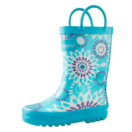Oakiwear Kids Rain Boots For Boys Girls Toddlers Children, Frozen Bursts