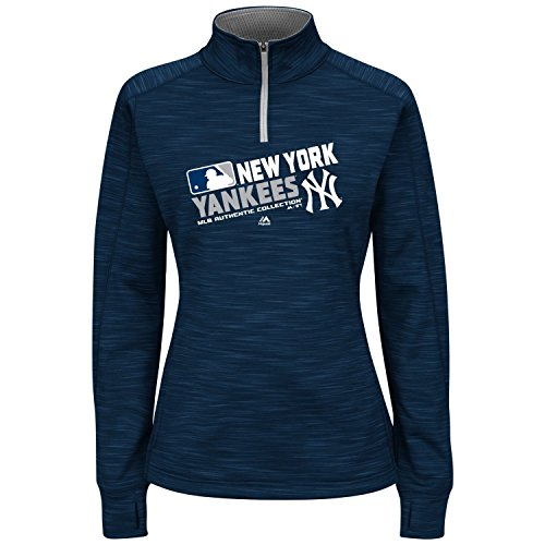 Women's Plus MLB Majestic Team Choice Fleece Hoodie (Plus 1X, New York Yankees)