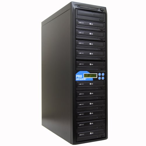 Produplicator 1 to 11 24X CD DVD Duplicator Copier with 128MB Buffer Speed (Built-in M-Disc Support Burner) + FREE Nero