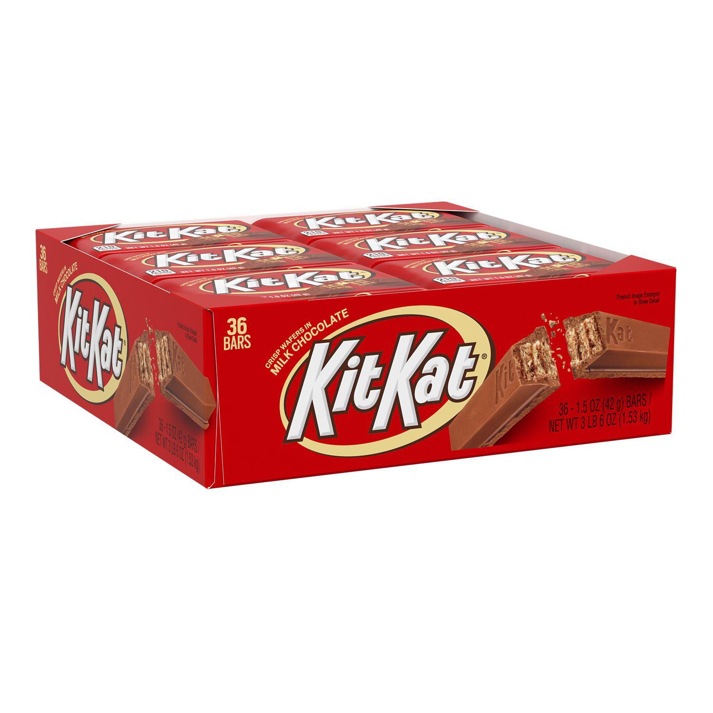 KIT KAT® Milk Chocolate Wafer Candy, Bulk, 1.5 oz, Bars (36 ct)