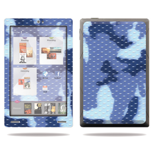 "Mightyskins Protective Skin Decal Cover for Kobo Arc 7"" eReader Tablet wrap sticker skins Blue Camo"