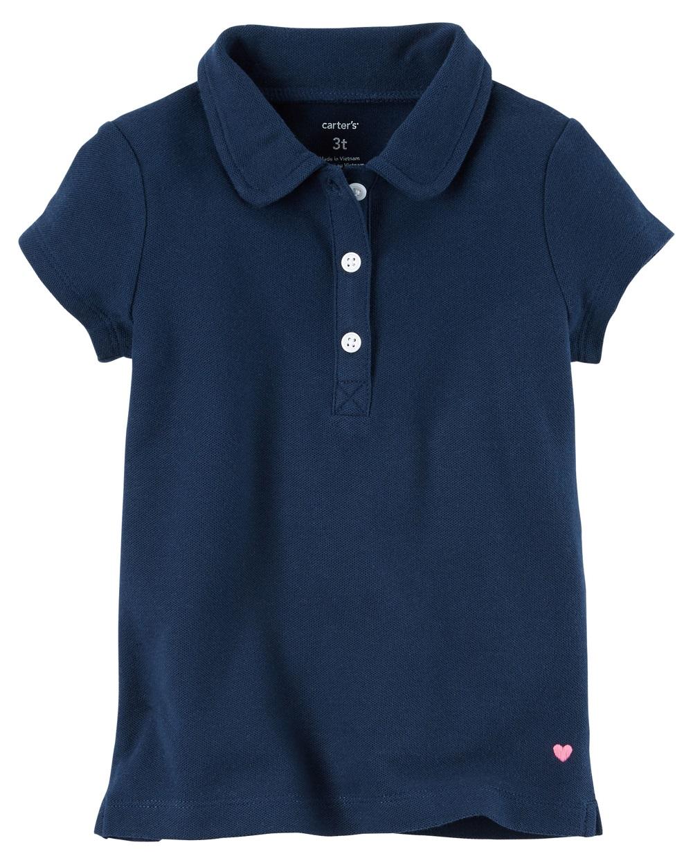 Carter's Little Girls' Piqué Polo, 2-Toddler